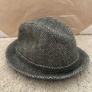 Vintage Kangol Tweed Herringbone Wool Fedora Hat